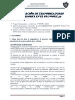 Programación de temporizadores y contadores en Proworx32