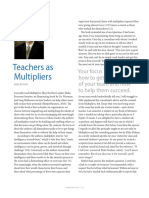 Teachers as Multipliers