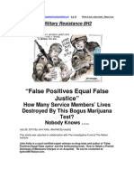 Military Resistance 8H2 False Positives False Justice