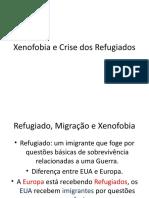 Xenofobia e Crise Dos Refugiados