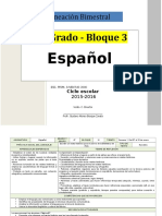 Plan 6to Grado - Bloque 3 Español (2015-2016).doc