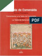 La Tabla de Esmeralda Hortulano Fulcanelli Hermes Trismegistos.pdf