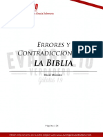 Errores y Contradicciones en La Biblia