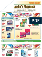 Landry's Pharmacy - August2010 On Sale Flyer