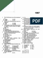 paper 1987 UPSC EXAMS