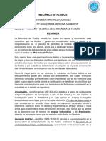 Resumen Cap 1 Historia y Alcance de La Mecanica de Fluidos Ronny Martinez r.