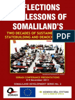 Reflections and Lessons of Somaliland's