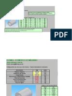 Cálculos de Pesos - Tubos Redondos e Buchas