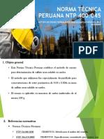 Norma Técnica Peruana Ntp 400