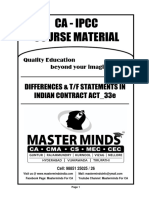 IPCC_33e_Differences & True or False Statements in Indian Contract Act