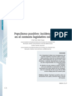 Populismo Punitivo, Incidencia Actual en El Contexto Legislativo Colombiano