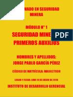 Módulo 1 Seguridad Minera y Primeros Auxilios