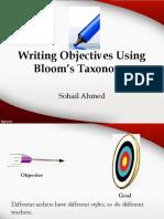 Writingobjectivesusingbloomstaxonomybysohailahmed 150630184631 Lva1 App6892