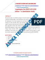Inverter topologies for DSTATCOM applications—a simulation study