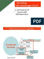 Dody Firmanda 2010 - PERSI Workshop - Penyusunan Prosedur Kredensial dan Kewenangan Klinis
