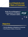 Modulus of Elasticity and Poisson Ratio of Concrete
