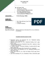 Palash Patil Resume