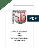 Silabo de Semiologia General y Especializada 2017 i