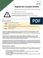 UK Patient Valsartan Medication Leaflet
