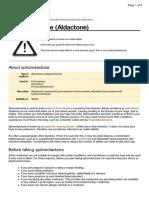 UK Patient Spironolactone Medication Leaflet
