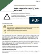 UK Patient Omeprazole Medication Leaflet