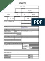 New Employee Details Master