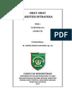 Obat Anestesi Intravena 2015