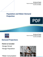 Pop and Water Demand Projection
