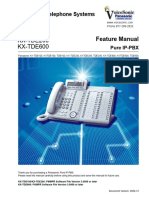 Panasonic KX TDE100 200 600 Feature Manual