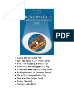 Simon Lesley - Great Ballads - Playalong for Alto Saxophone