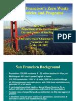 San Francisco's Zero Waste Policies and Programs