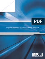 Project Management Professional Handbook -Instrutions