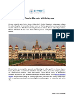 5 Top Tourist Places to Visit in Mysore