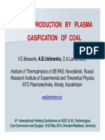 Syngas Production by Plasma Gasification of Coal