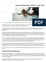 5 Effective Project Management Methodologies and How to Apply Them -Project Times