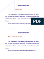 Narrative Writing Exercise