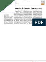 Focus sulle ricerche di chimica farmaceutica - Il Corriere Adriatico del 3 luglio 2017