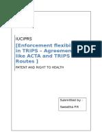 Enforcement Flexibilities in TRIPS - Draft