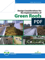 Design Considerations for the Implementation of Green Roofs