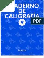 Cuaderno Caligrafia Anaya 9