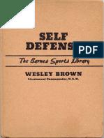 Self Defense - Wesley Brown
