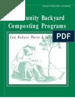 Community Backyard Composting Programs Can Reduce Waste - North Carolina State University