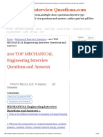 200 TOP MECHANICAL Engineering Interview Questions and Answers Mechanical Interview Questions