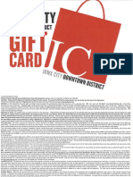 Iowa City Downtown District Gift Card Terms Conditions 2014