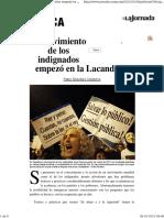 El Movimiento de Los Indignados Empezo en - Gonzalez Casanova, Pablo