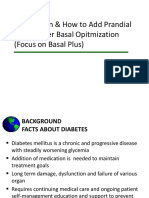 Why, When & How to Add Prandial Insulin After Basal Opitmization (Focus on Basal Plus)