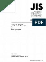 JIS - B 7503-19971