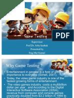 50583321 Game Testing