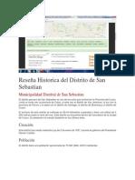 Reseña Historica Del Distrito de San Sebastian