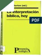 Barton, John - La Interpretación Bíblica Hoy